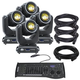ADJ American DJ VIZI BEAM 5RX Moving Head 4-Pack with DMX Controller