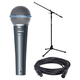 Shure Beta 58A Vocal Mic with Cable and Stand