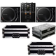 Pioneer DJM-250MK2 DJ Mixer with (2) PLX-500K Turntables & Cases