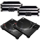 Pioneer PLX-500-K Turntables with Road Cases