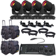 Chauvet Intimidator Spot 355 IRC 4-Pack with Bag and DMX Controller