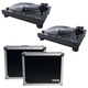 Numark TT250USB Direct Drive DJ Turntables (2) with Road Cases