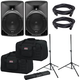 Alto TX8 Powered Speakers (2) with Gator Stands & Totes