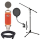 Blue Spark Condenser Microphone Bundle with Mic Stand & Pop Filter