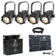 Chauvet EVE TF 20 LED Fersnel Light 4-Pack with DMX Dimmer Pack