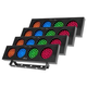 Chauvet DJ Bank RGBA LED Color Bank Light 4-Pack