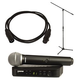 Shure BLX24-PG58 Wireless Handheld Mic w/ Boom Stand & Cable