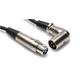 Hosa 25ft XLR (F) to Right Angle XLR (M) Cable