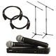 Shure BLX288 PG58 Dual Wireless Mic System w/ Stands & Cables
