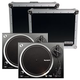 Numark NTX1000 Direct-Drive DJ Turntables (2) with Road Cases