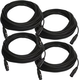 50ft XLR to XLR Microphone Cable 4-Pack