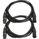 10ft XLR to XLR Microphone Cable Pair