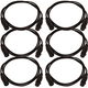 5ft XLR to XLR Microphone Cable 6-Pack