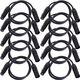 3ft 3-Pin DMX Lighting Cable 10-Pack