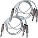 "5ft Audio Cable 1/4"" TS to Dual 1/4"" TS Pair"