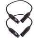 1.5ft 3-Pin DMX Lighting Cable Pair