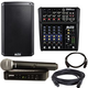 Alto TS210 Speaker & ZMX862 Mixer with Shure BLX24-PG58