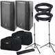 DAS Altea 715A Powered Speakers (2) with Gator Stands & Totes
