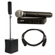 RCF EVOX-8 Portable PA System with Shure BLX24 PG58 Wireless Mic System