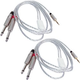 """5ft Audio Cable 1/8"""" TRS to Dual 1/4"""" TS Pair"""