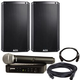 Alto TS215 Powered Speakers (2) with Shure BLX24-PG58