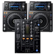 Pioneer XDJ-1000MK2 Media Players (2) with DJM-450 DJ Mixer