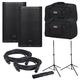 PreSonus AIR12 Powered Speakers (2) with Gator Stands & Totes