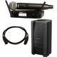 Bose F1 812 Powered Speaker w/ Shure GLXD24-SM58 Wireless Mic