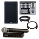 QSC K10.2 Speaker & TouchMix-16 Mixer with Shure BLX24-PG58 Wireless Mic