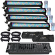 ADJ American DJ Mega Bar 50RGB RC LED 4-Pack with DMX Controller Bags & Cables