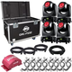 ADJ American DJ Vizi Beam RXONE 4-Pack with Road Case