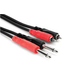 "Hosa CPR-206 Dual 1/4"" TS to Dual RCA Cable 6m"