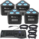 Chauvet Wedge Tri 4-Pack with DMX Controller