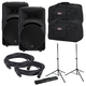 Mackie SRM450V3 Powered Speakers (2) with Gator Stands & Totes