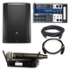 JBL PRX815W Speaker & Soundcraft Ui12 Mixer w/ Shure BLX24-PG58