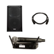 QSC KW122 Powered Speaker with Shure GLXD24-SM58