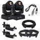 ADJ American DJ Stinger Spot LED Moving Head 2-Pack w/ DMX Controller & Cables