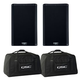 QSC K10.2 10-Inch Powered Speakers (2) with Totes