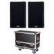 QSC K8.2 Speakers w/ Gator Tour Style Transporter