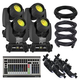 Chauvet Rogue R1 Spot Moving Head Light 4-Pack with DMX Controller