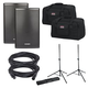Fender Fortis F-15BT Powered Speakers with Gator Covers & Stands