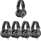 Audio Technica Studio Headphone Bundle (1) ATH-M50X (4) ATH-M20X