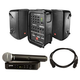JBL EON208P Portable PA System with Shure BLX24 PG58 Mic System