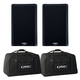 QSC K12.2 12-Inch Powered Speakers (2) w/ Totes