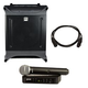 HK Audio Lucas Nano 300 Powered PA with Shure BLX24 PG58 Wireless Mic System