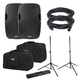 Gemini AS-15P Powered Speakers w/ Gator Totes & Stands