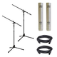 MXL 603 PAIR Condenser Mic Pair w/ Stands & Cables