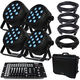 Blizzard LB Par Quad RGBW 4-Pack with Case & DMX Controller