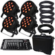 Blizzard LB Par Quad RGBA 4-Pack with Case and DMX Controller