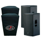 DAS Action 15A 15-Inch Powered Speaker Pair with Covers